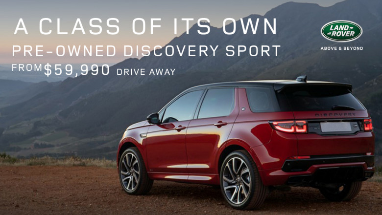 Pre-Owned Discovery Sport from $55,990 drive away