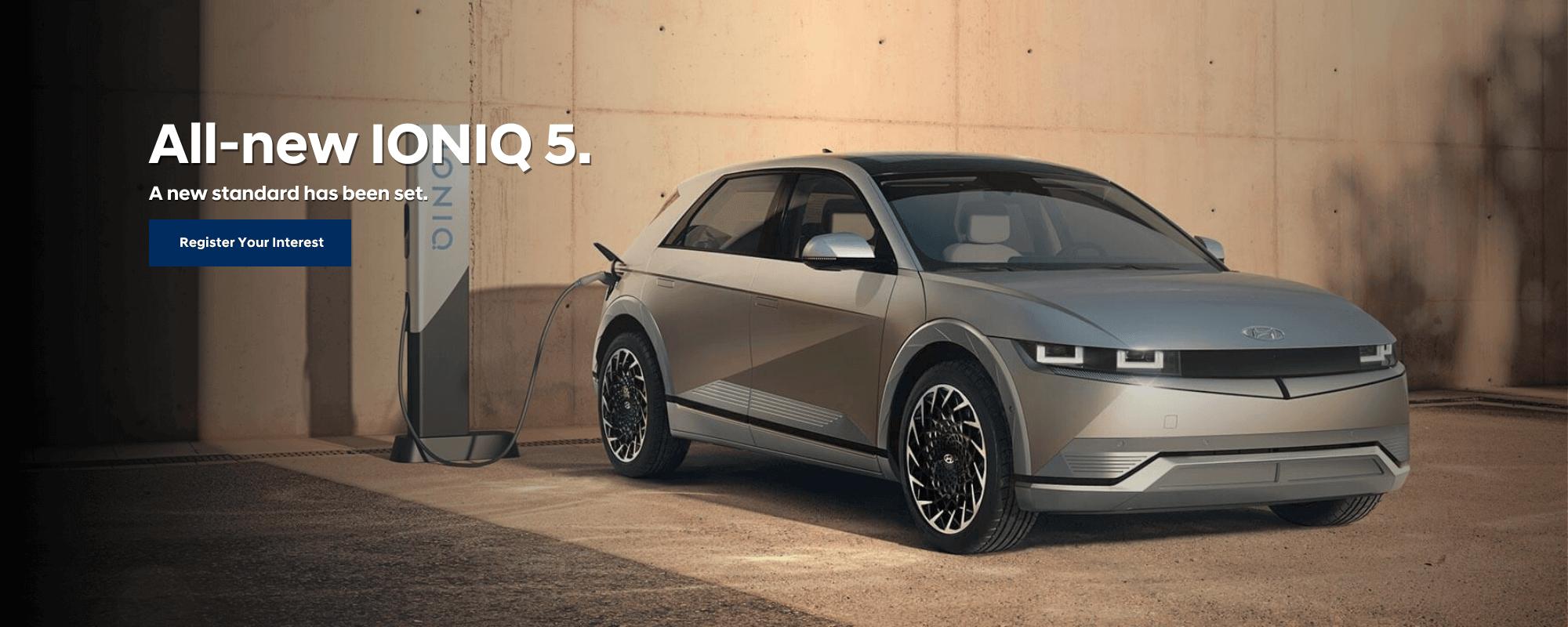 Coming Soon: Hyundai IONIQ 5. A new standard has been set.