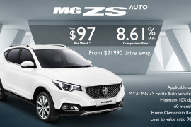Nova MG ZS Finance Offer