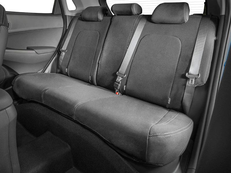 Neoprene rear seat cover.