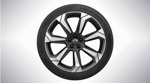 "Complete wheels, 20"" 7-Spoke Matt Graphite Diamond Cut - 146"