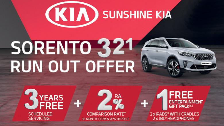 Sunshine Kia Sorento 321 Runout Offer