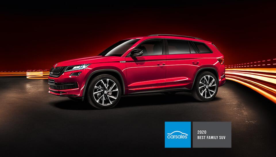 Kodiaq 2020 CARSALES BEST FAMILY SUV AWARD