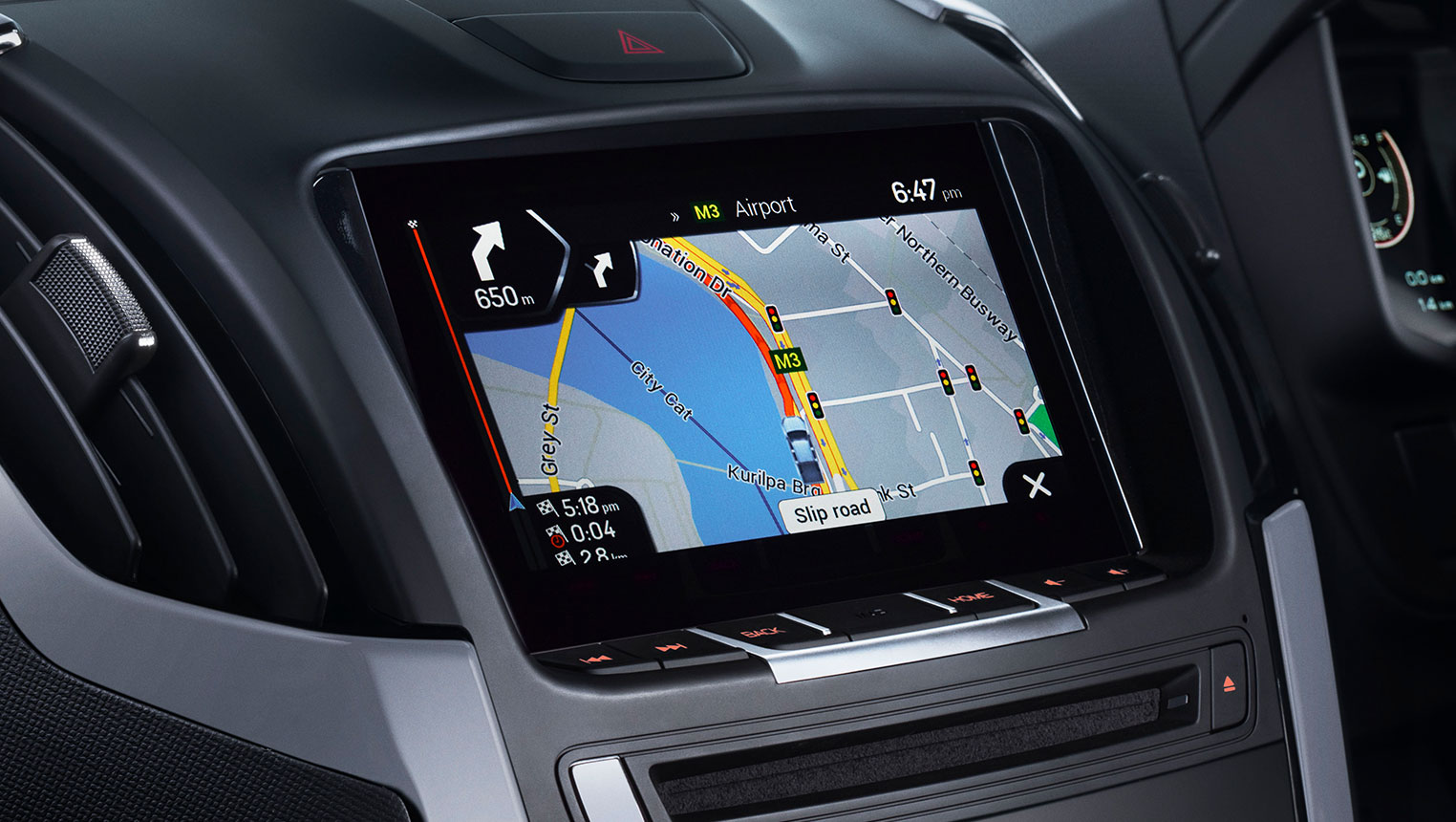 Touchscreen Audio and Satellite Navigation System Image
