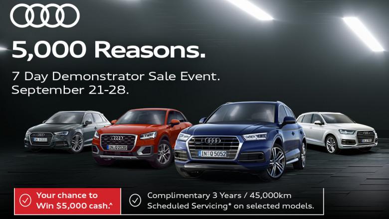 Audi 7 Day Demonstrator Sale