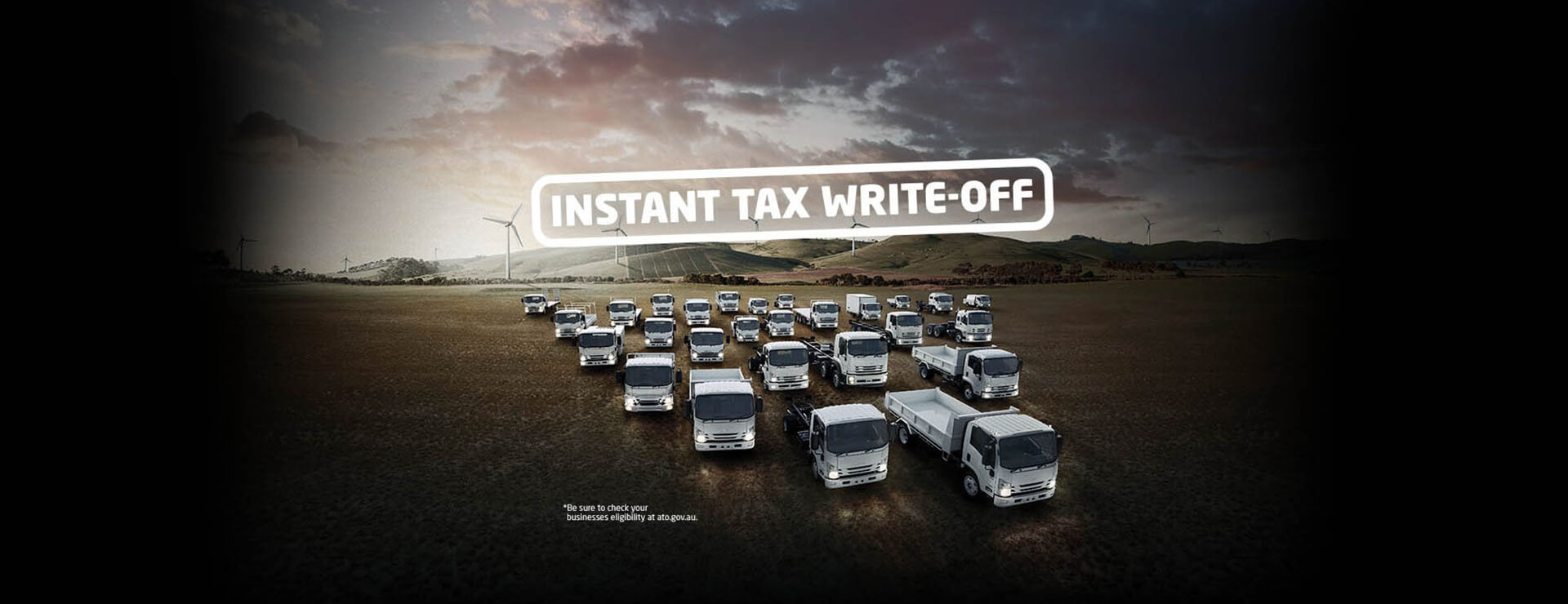 Whit the instant tax write-off, there's never been a better time to buy an Isuzu.