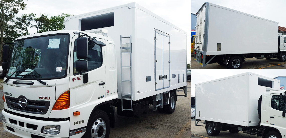 Premium refrigerated truck body with full thermal breaks