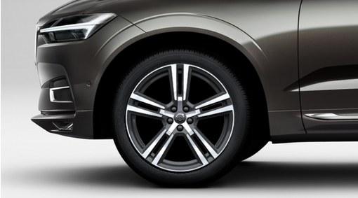 """Complete wheels, 20"""" 5-Double Spoke Tech Black Diamond Cut - C1011"""