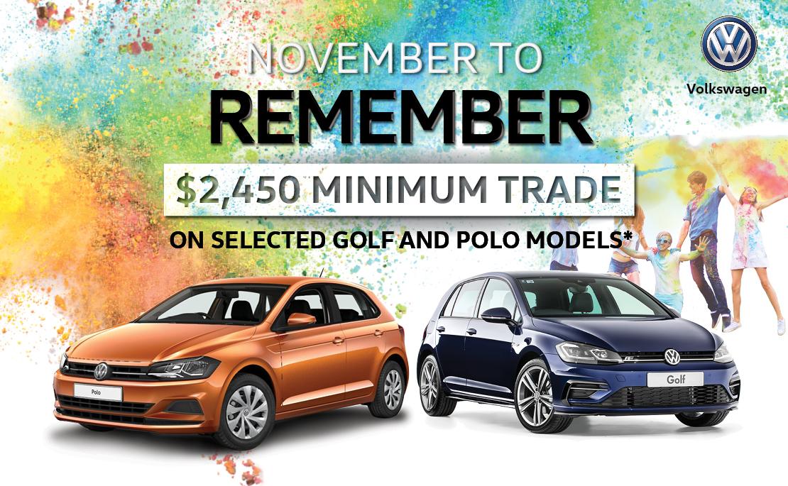 Volkswagen $2,450 Minimum Trade