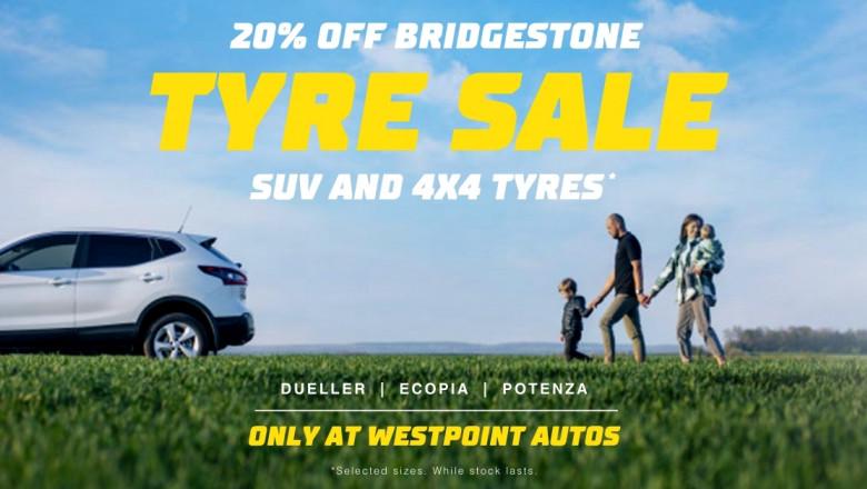 20% Off Bridgestone Brand Tyres FEBRUARY ONLY
