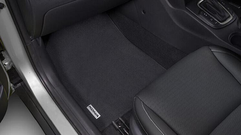 Tailored carpet floor mat (set of $) - black stitching
