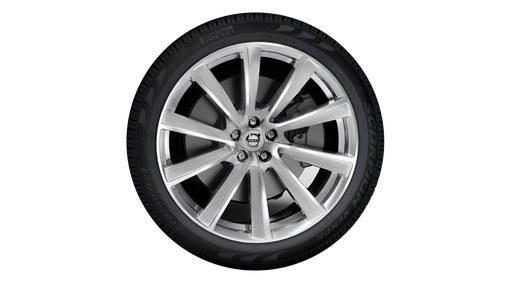 "21"" 10-Spoke Turbine Tinted Silver Diamond Cut Alloy Wheel - 800144"