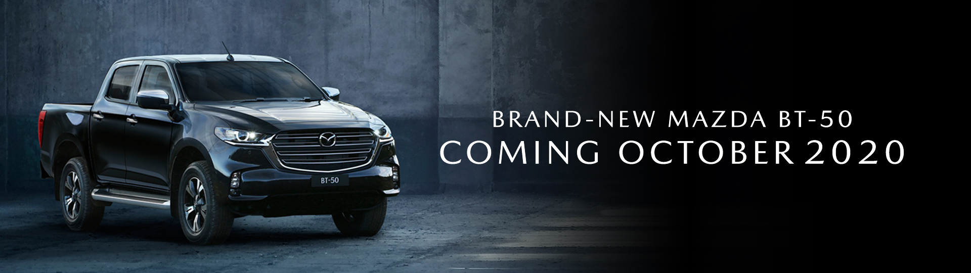 Brand-new Mazda BT-50. Coming October 2020