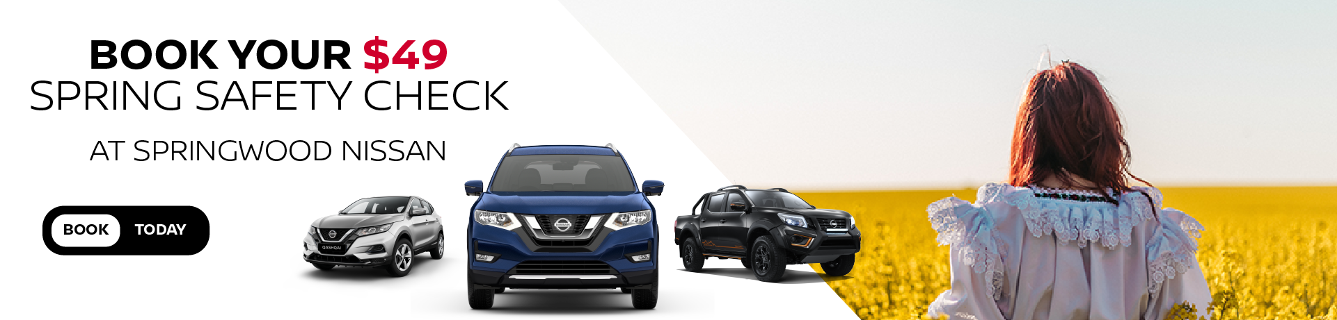 Book your $49 Spring Safety Check at Springwood Nissan
