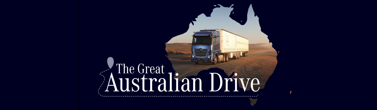 GREAT AUSTRALIAN DRIVE MB SHOW TRUCK HERE THURSDAY 29 APRIL