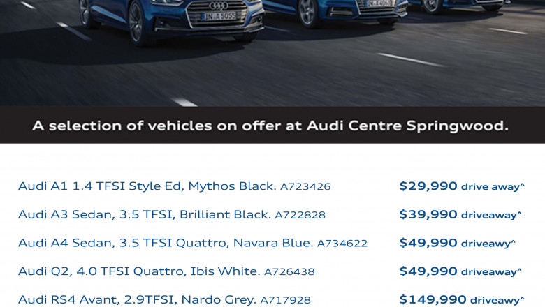 Audi Centre Springwood Offers